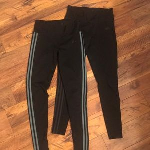 Adidas leggings 2 pair medium